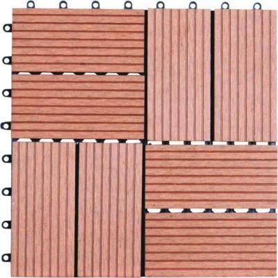 Naturesort 8 Slat 1 Ft X 1 Ft Composite Deck Tiles In Dark Tan 11 Per Case N4 Ot01 Deck Tile Deck Tiles Composite Decking