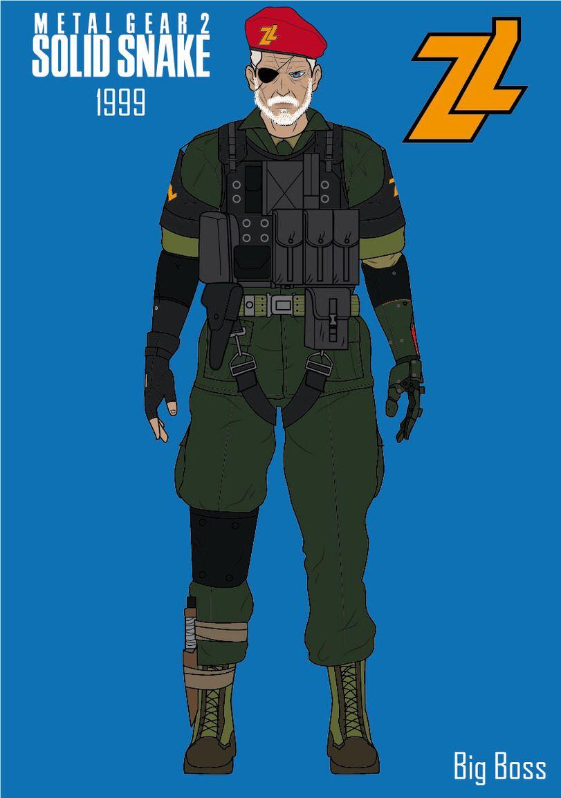 Big Boss Metal Gear 2 Solid Snake Metal Gear Metal Gear