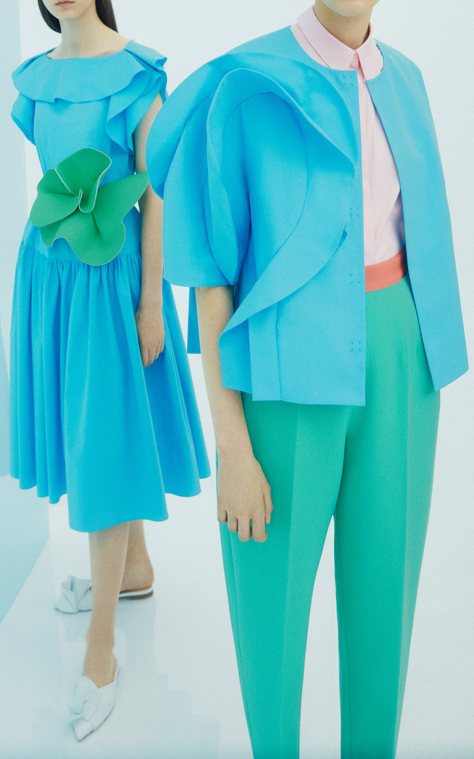 Zoom Click Product With Sleeves Up Delpozo Jacket To Midi Dress Cotton qUrEXxnUwS