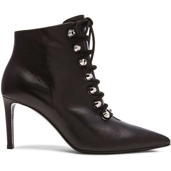 clearance discounts buy cheap visit Balenciaga Leather Lace-Up Booties free shipping professional best wholesale cheap online CtEnct