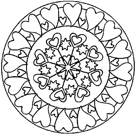Coloriage Mandala Coeur à colorier - Dessin à imprimer | Heart ...