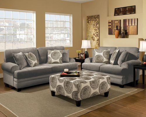 Remarkable 2 Pc Albany Groovy Smoke Sofa Loveseat Set 8642 So The Ocoug Best Dining Table And Chair Ideas Images Ocougorg