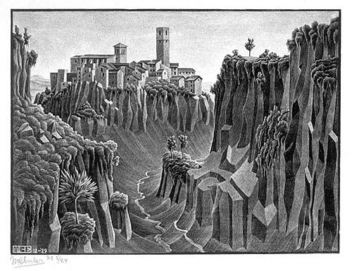 m c escher the fourth day of creation - Google Search