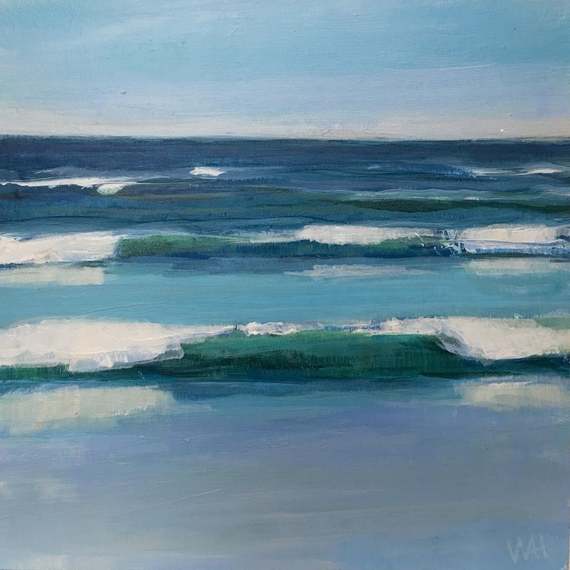 30 Paintings In 30 Days Day 26 Parade With Images Image Painting Seascape Paintings Ocean Painting
