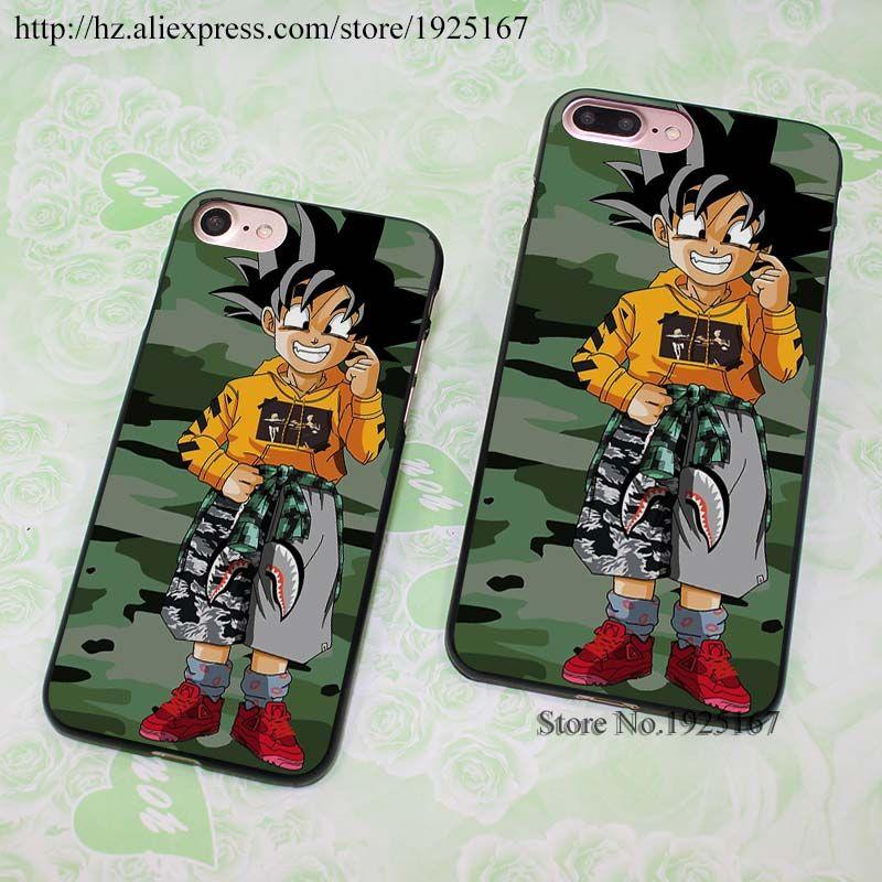 Goten Dragon Ball Shark Bape hard black Case Cover for Apple iPhone 7 6 6s Plus SE 5 5s 5c 4 4s