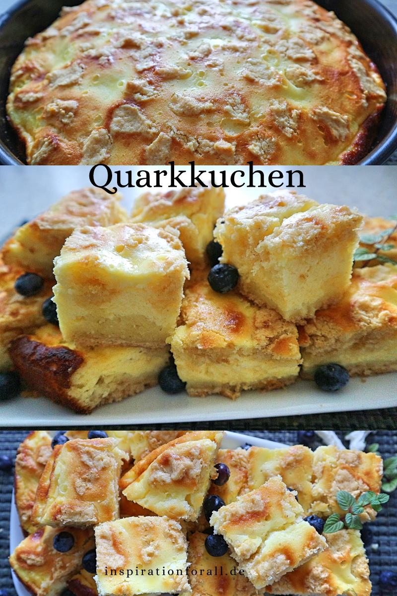 Diesen saftigen Quarkkuchen kannst du schnell selber backen. Das Rezept für den zarten Käsekuchen ist einfach. #Quarkkuchen #QuarkkuchenRezept #SchnellerQuarkkuchen #QuarkkuchenEinfach #apfelmuffinsrezepte