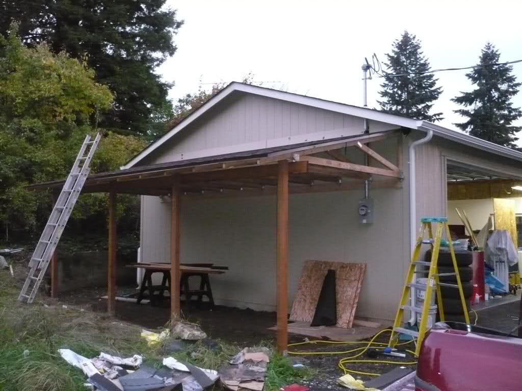 Lean to carport build Building a carport, Rustic pergola