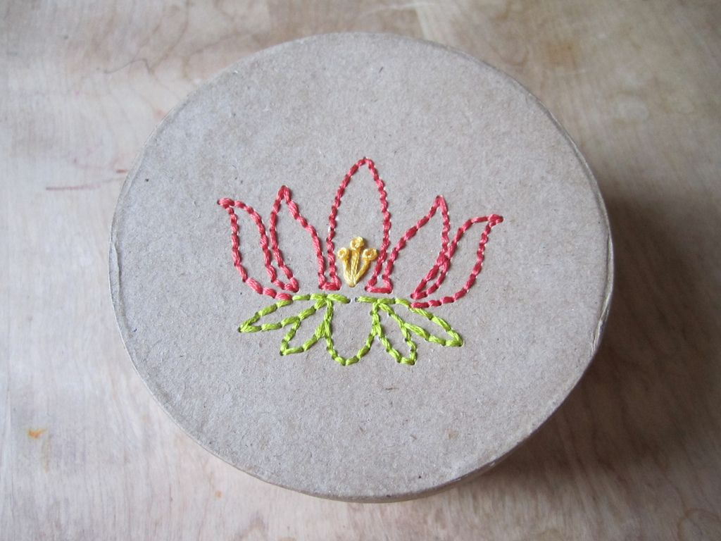 Embroidered Lotus Box | 출처: cscrabeck