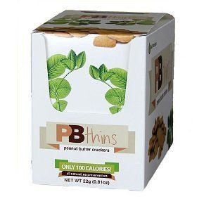 #7: PB2 Thins Peanut Butter Crackers 12, .81 oz Bags 100 Calories