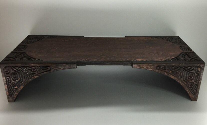 rare vintage witco tiki modern carved coffee table mid century