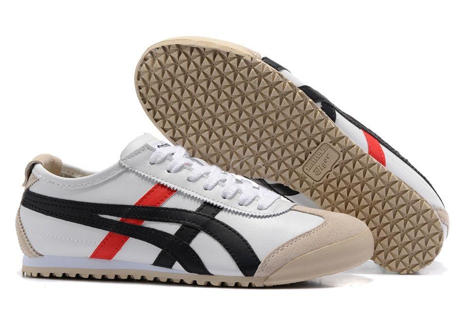 Onitsuka Tiger White Black Red Shoes