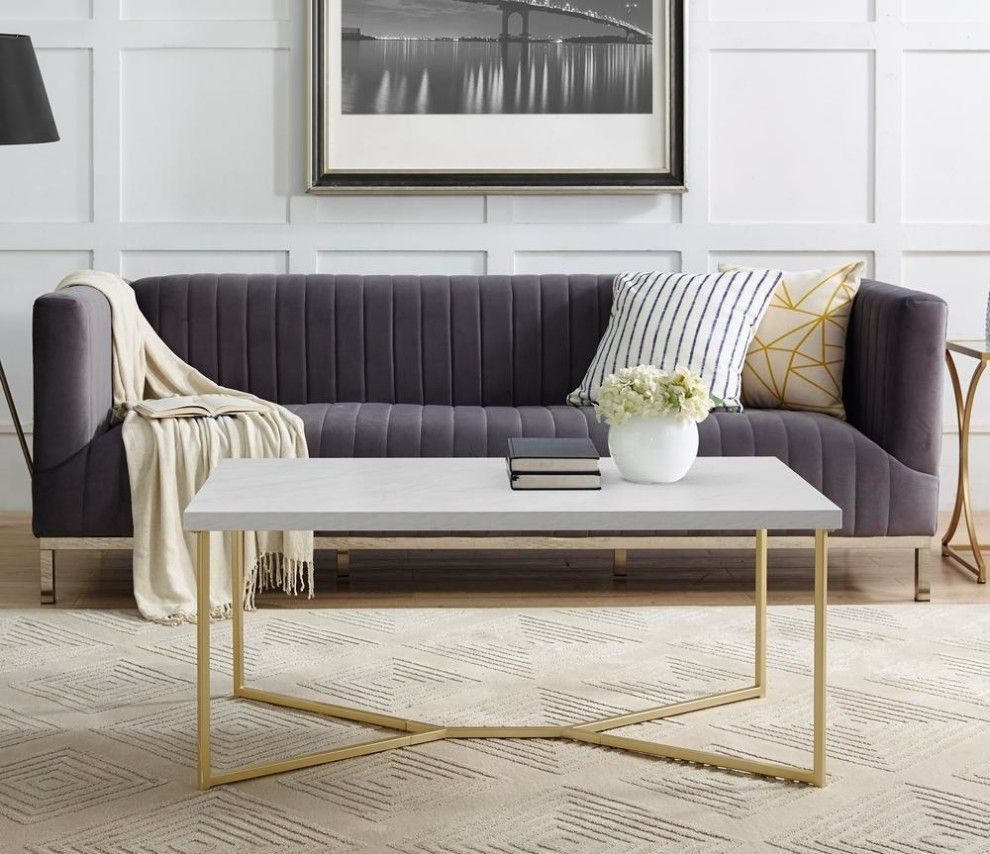 29 Things You Didn T Know You Could Get At The Home Depot Faux Marble Coffee Table Coffee Table Rectangle Living Room Coffee Table [ 854 x 990 Pixel ]