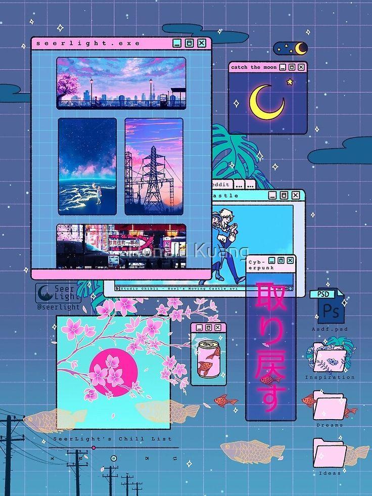 'SeerLight desktop night' Art Print by Ronald Kuang