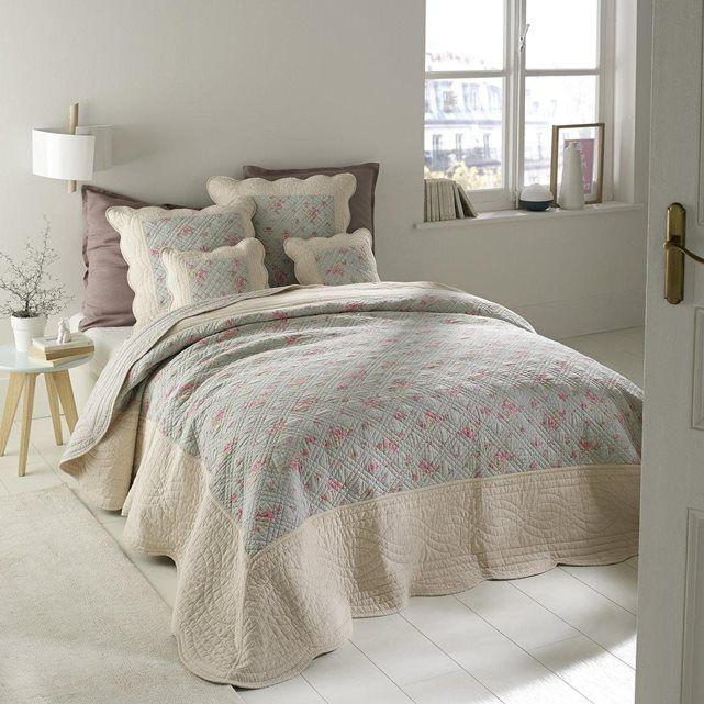 Boutis matelass fleuri scenario couvre lits couvre lits matelas et boutis matelass - Couvre lit matelasse la redoute ...