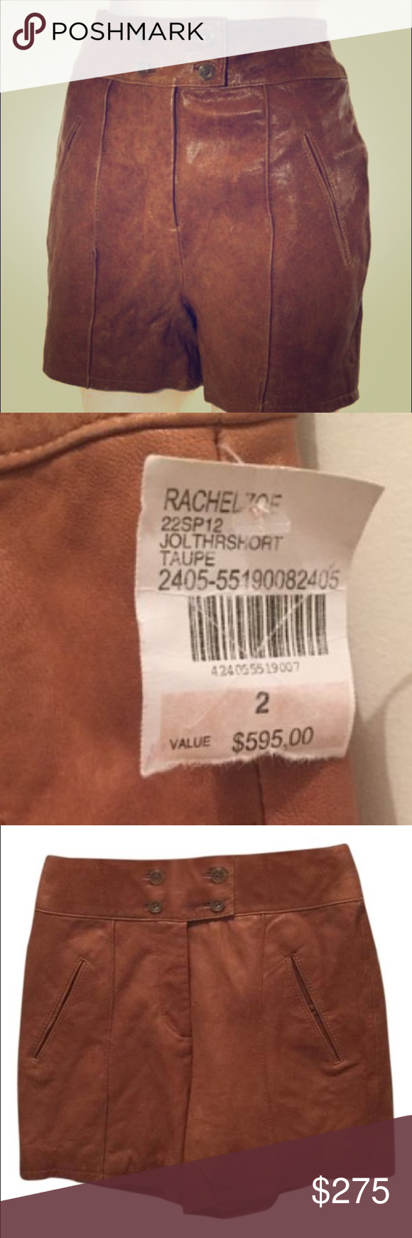 Rachel Zoe leather shorts. Perfect condition never worn .... NWT Rachel Zoe Shorts