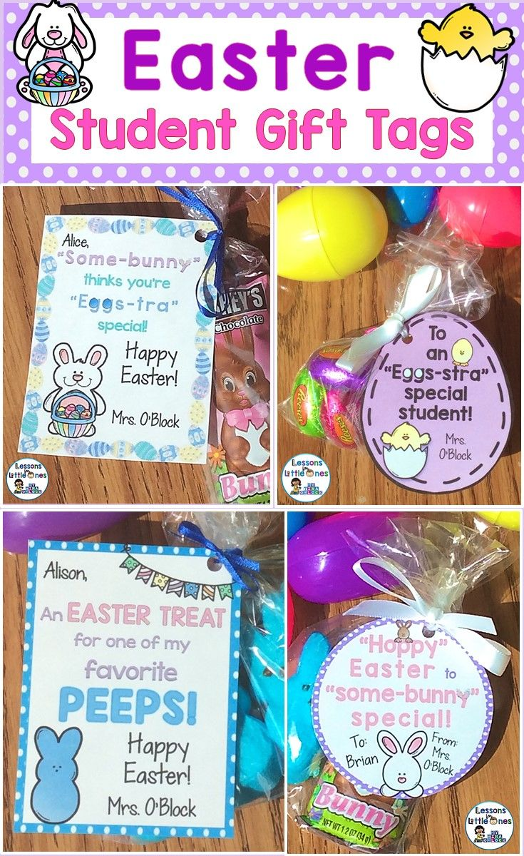 Easter student gift tags 8 editable designs includes print easily create personalized memorable easter gifts for your students with these editable and colorful student negle Gallery