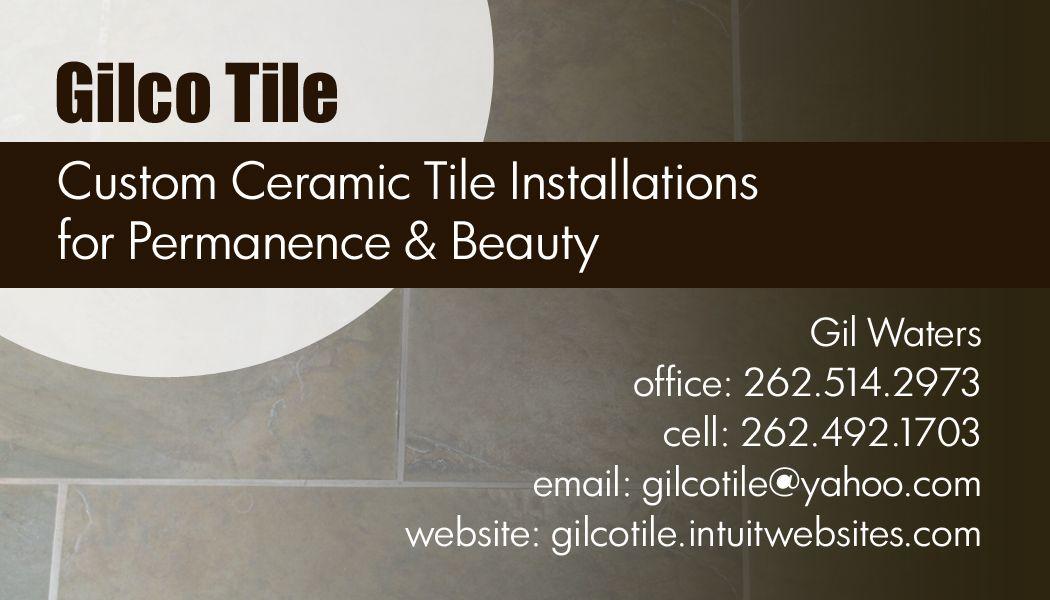 Tile company business card business cards pinterest for Tiler business card