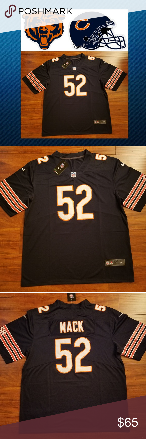 promo code 840fc d33df Khalil Mack Chicago Bears Jersey #Officially Licensed ...
