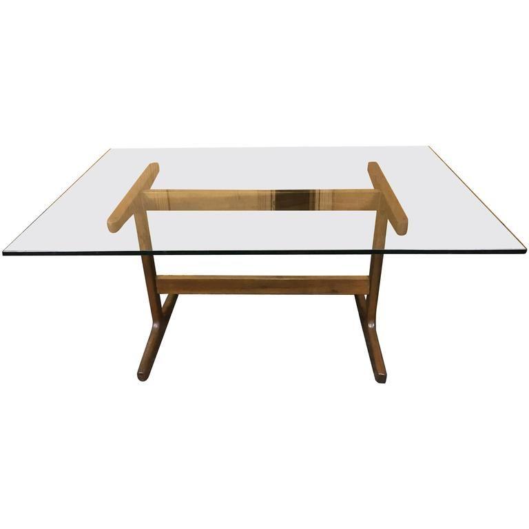 Danish Modern Teak Trestle Table BASE, in the style of Finn Juhl 1