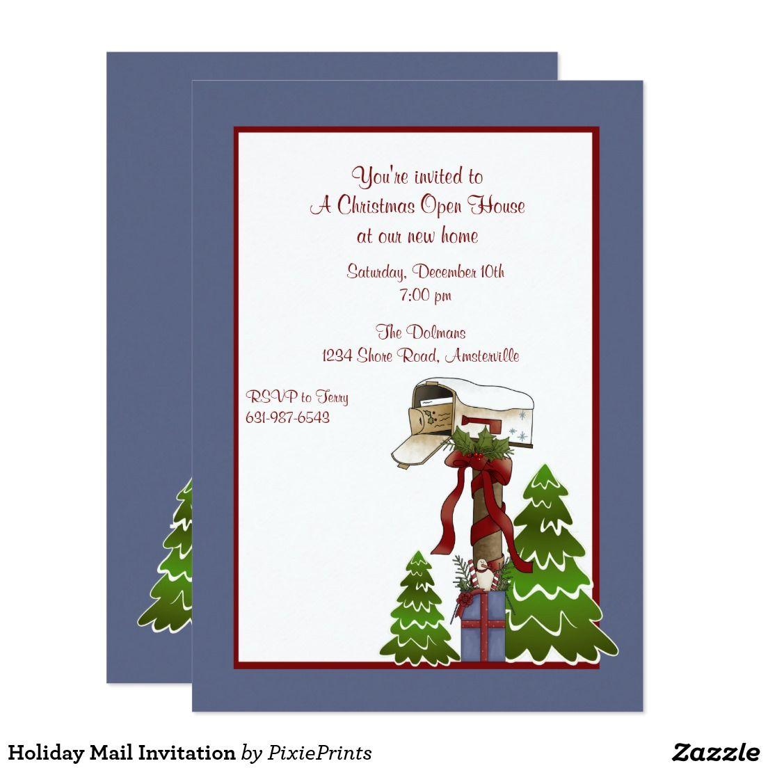 Holiday Mail Invitation | Christmas Party Invitations | Pinterest ...