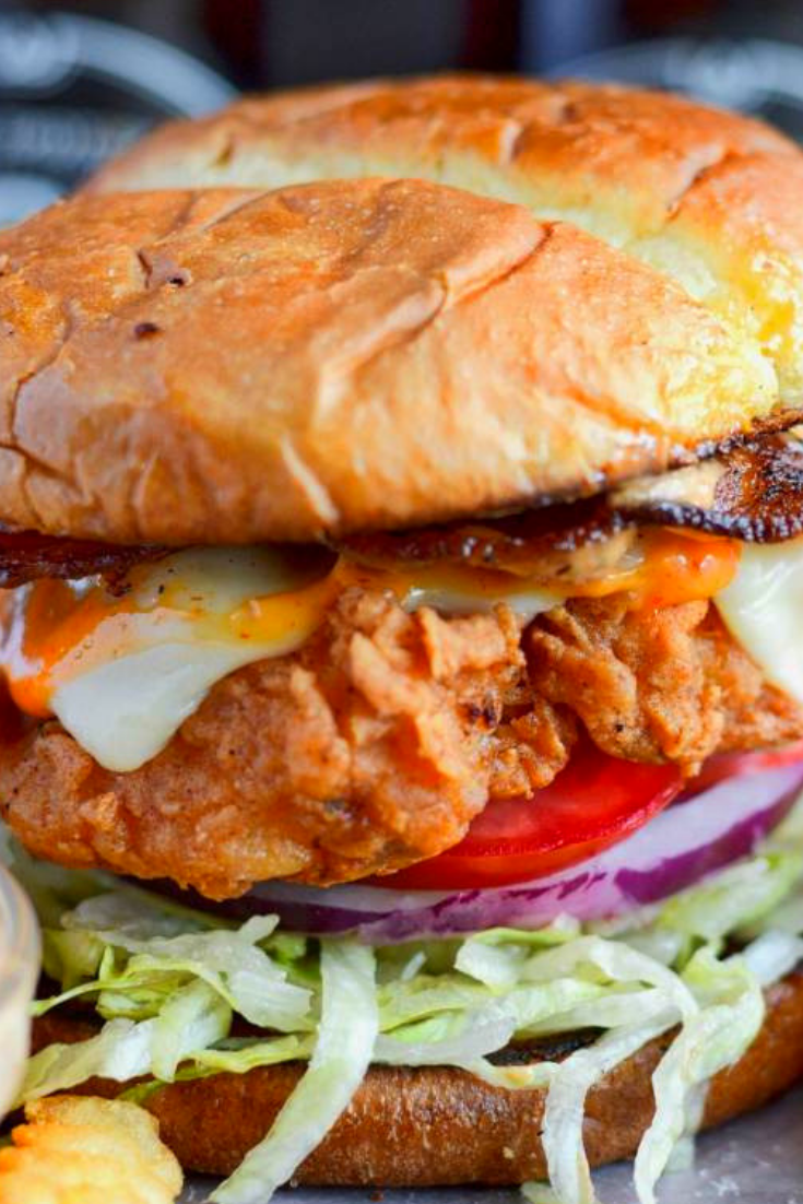 SPICY BUTTERMILK FRIED CHICKEN SANDWICH #chickenbreastrecipeseasy