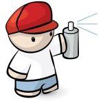 clipart illustration little street wise graffiti artist holding rh pinterest com