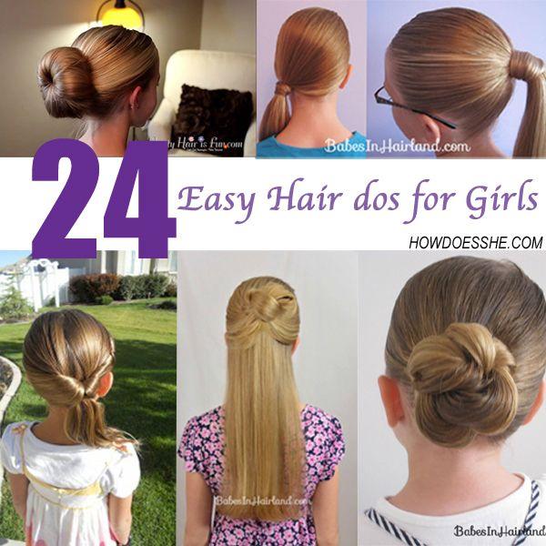24 Easy Hair dos for girls | Easy hair, Hair dos and Girl hair