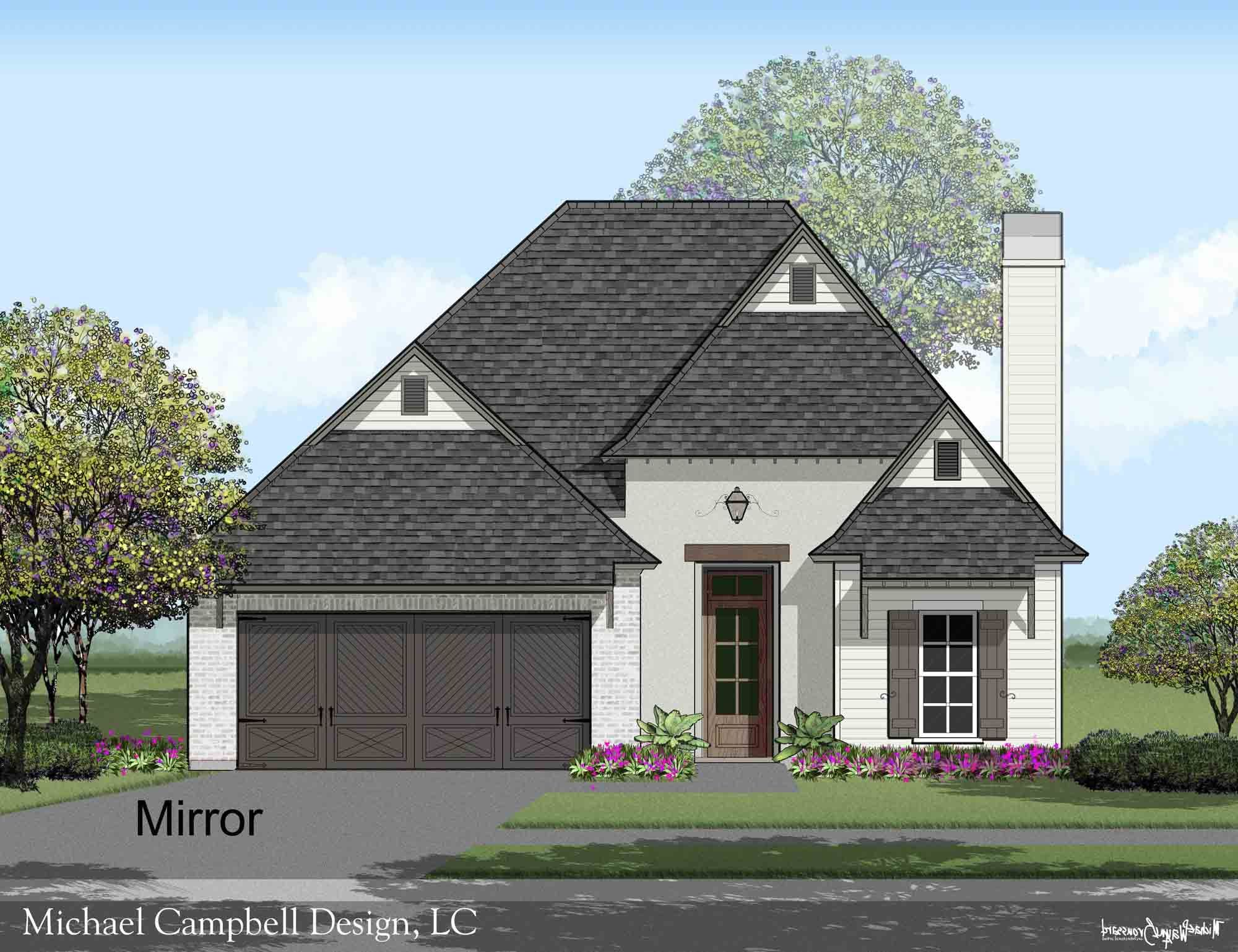 Plan 2021 45 Michael Campbell Design French Country House House Plans Small House Plans