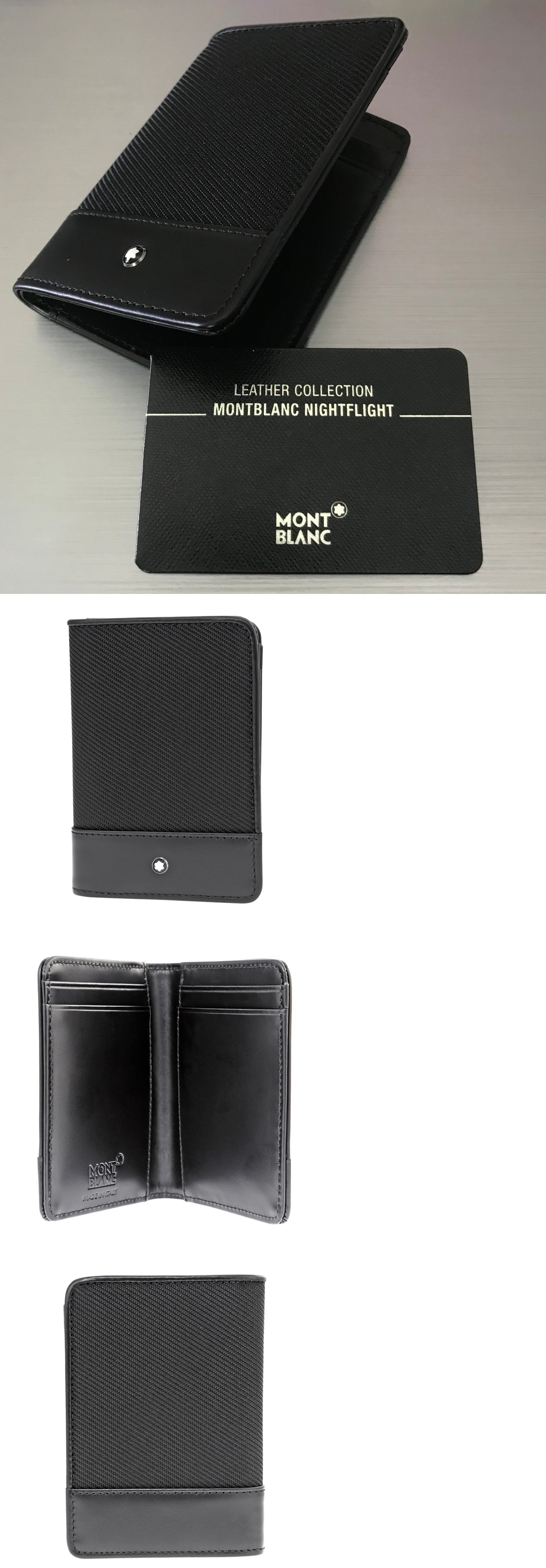 9250b4e05 Other Mens ID and Doc Holders 169272  100% Genuine Card Holder Montblanc  Nightflight Black