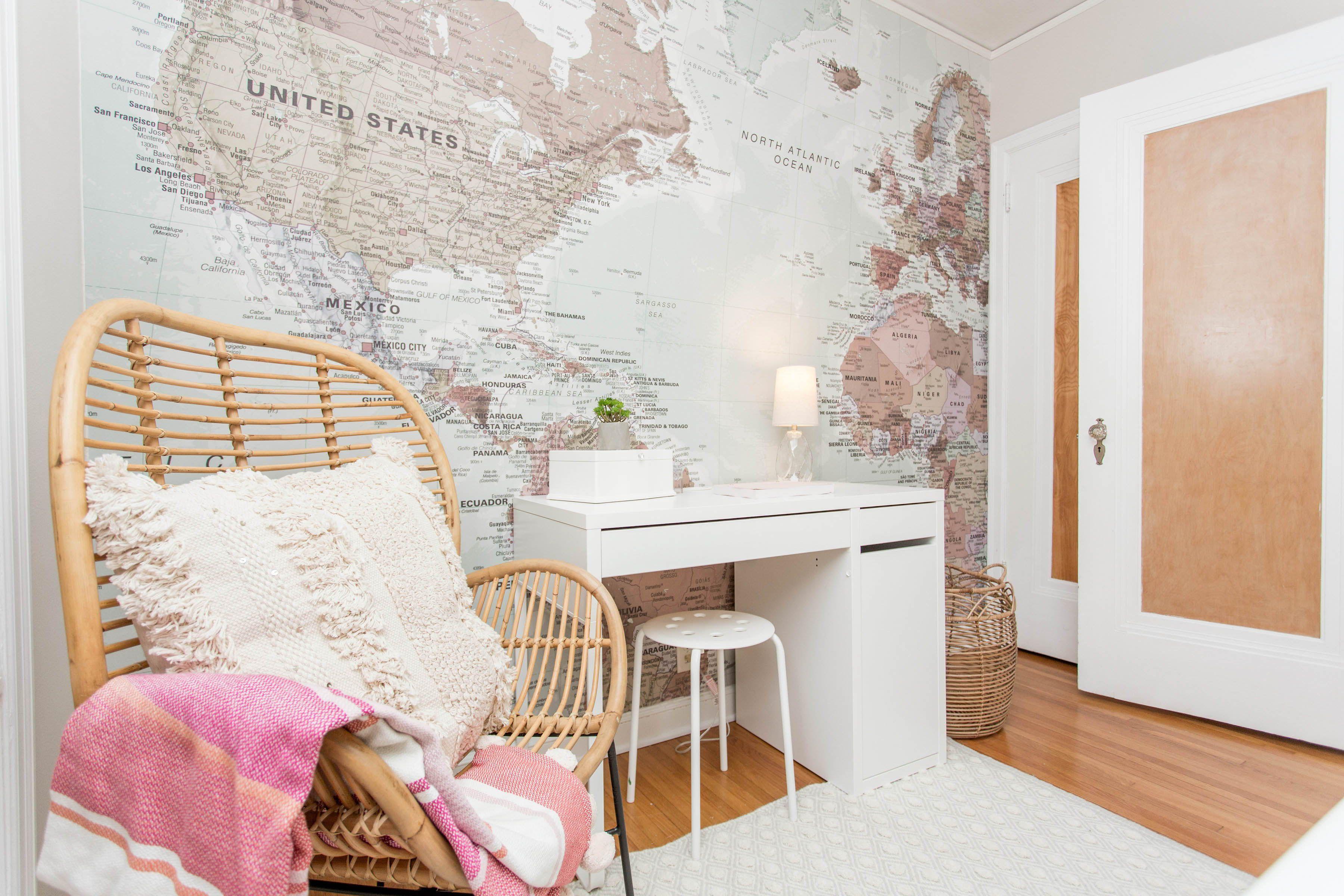 Mural Wallpaper World Map Wallpaper Map Decor World Map Mural