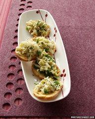 artichoke-parmesan crostini .... and 25 other appetizers by Martha Stewart