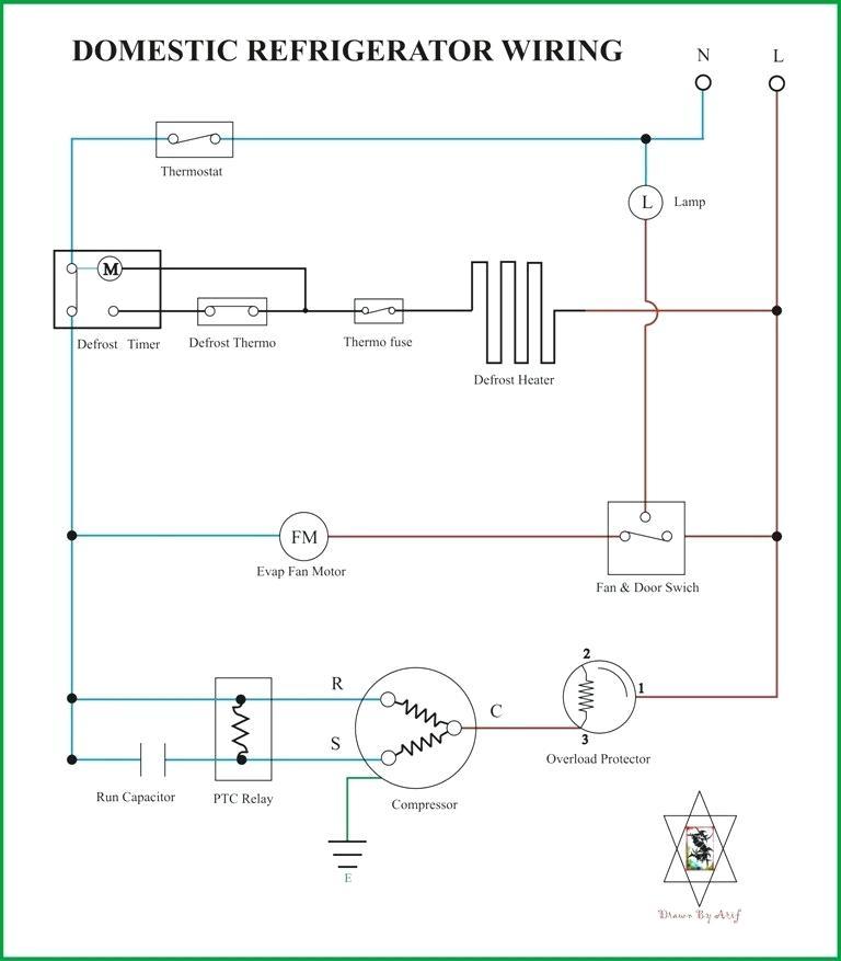 simple wiring diagram of fridge  1999 ford v10 engine