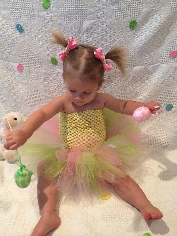 Easter Spring Infant/ Toddler/ Child's Tutu Girl's dress on Etsy, $19.95