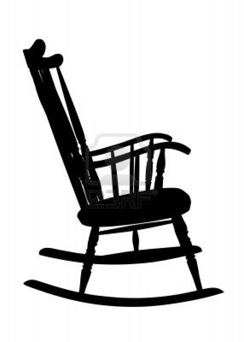 Vintage Rocking Chair Stencil Right Side 집안 꾸미기