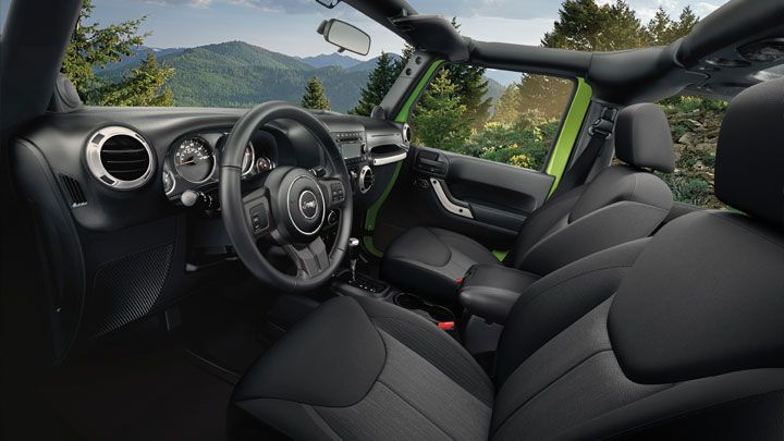The 2013 Jeep Wrangler Unlimited Sport Interior Shown In Black Jeep Rocks Pinterest 2013