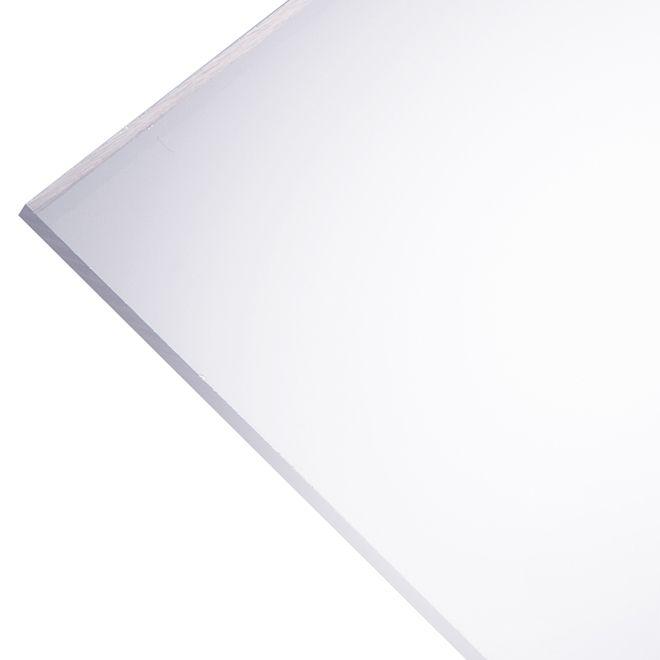 Plaskolite Optix 2 5 Mm Acrylic Panel 30 X 36 Clear Rona Acrylic Panels Acrylic Sheets Plastic Sheets
