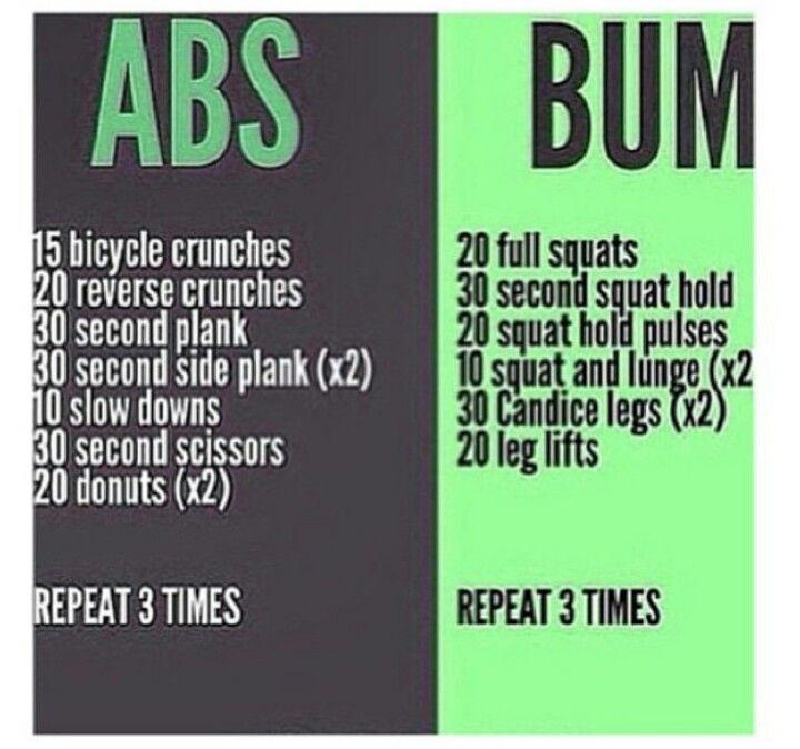Gain Abs/Work a Bum