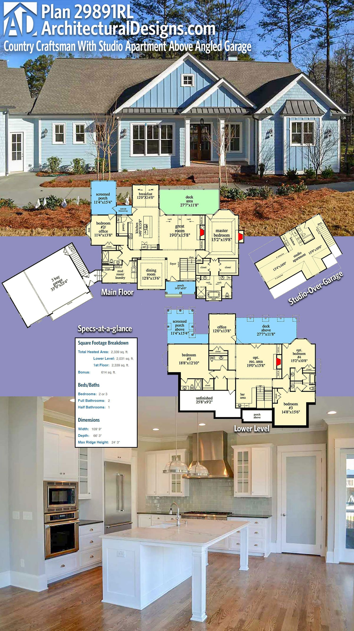 Architectural Designs House Plan 29891RL has 2