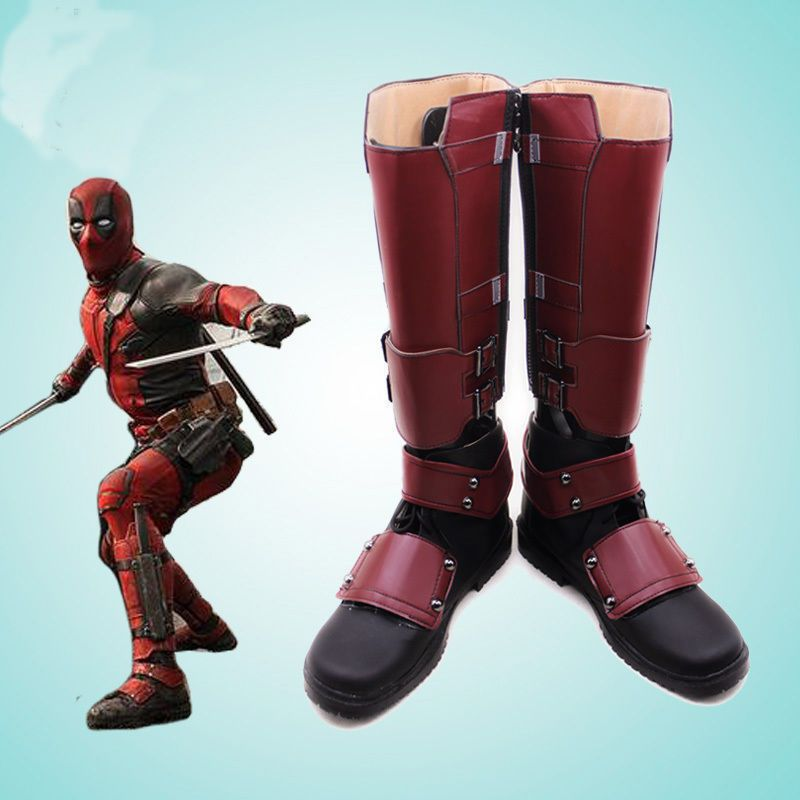 X-men Deadpool Wade Men Cosplay Shoes Boots