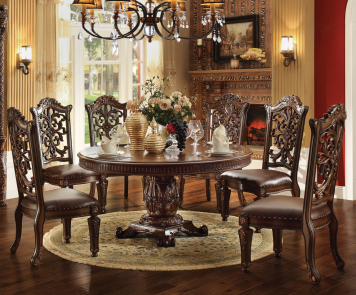 "Vendome 72"" Round Dining Table  Acme Furniture  Home Gallery Pleasing Acme Dining Room Set Inspiration"
