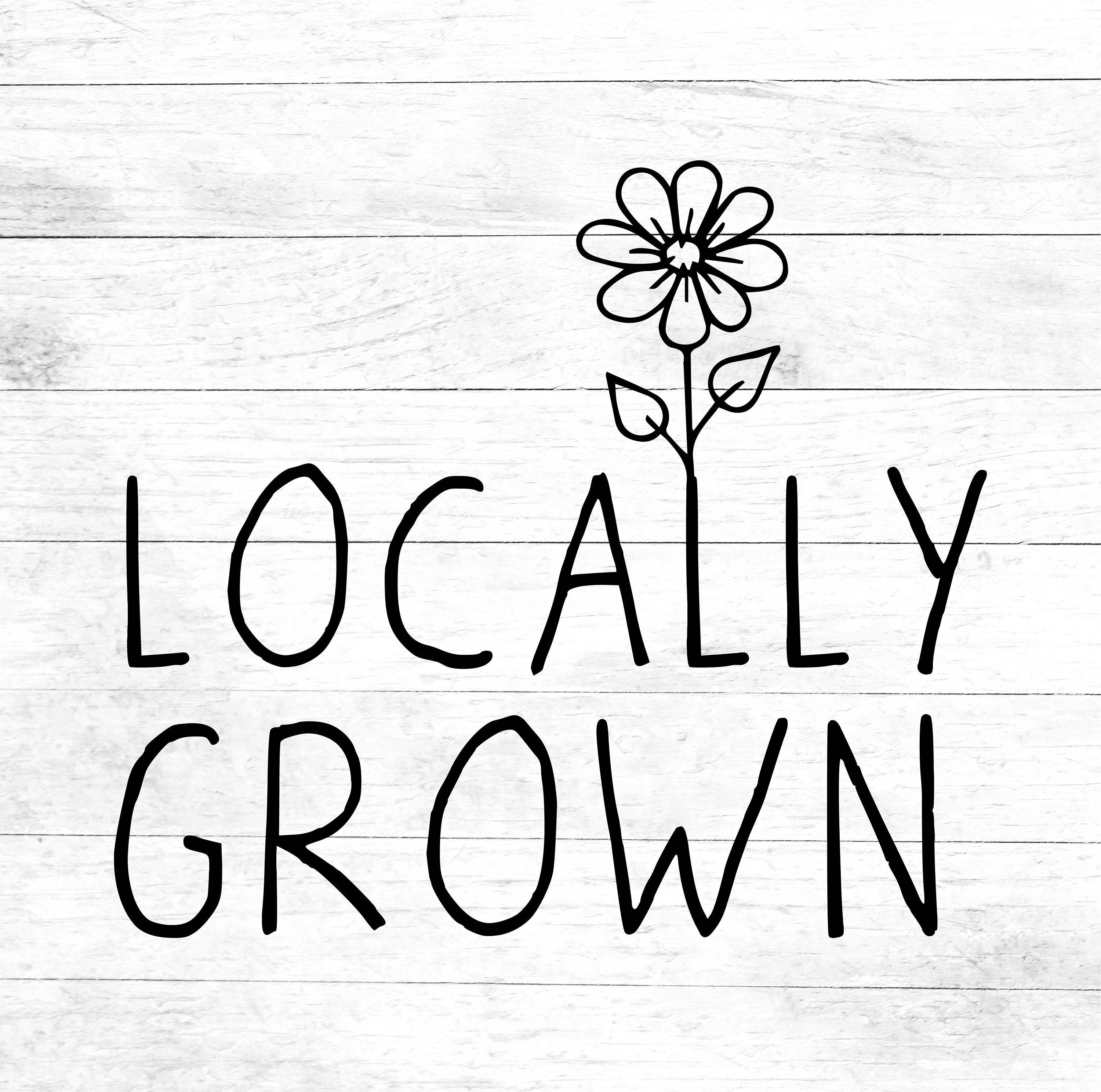 Locally Grown SVG, grown local, new baby, local yokel, digital download, onsie design