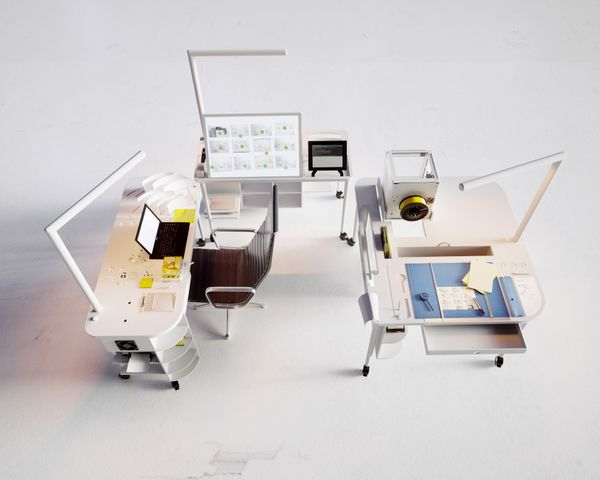 The Functional Integrated desk is the dream workplace for the ...