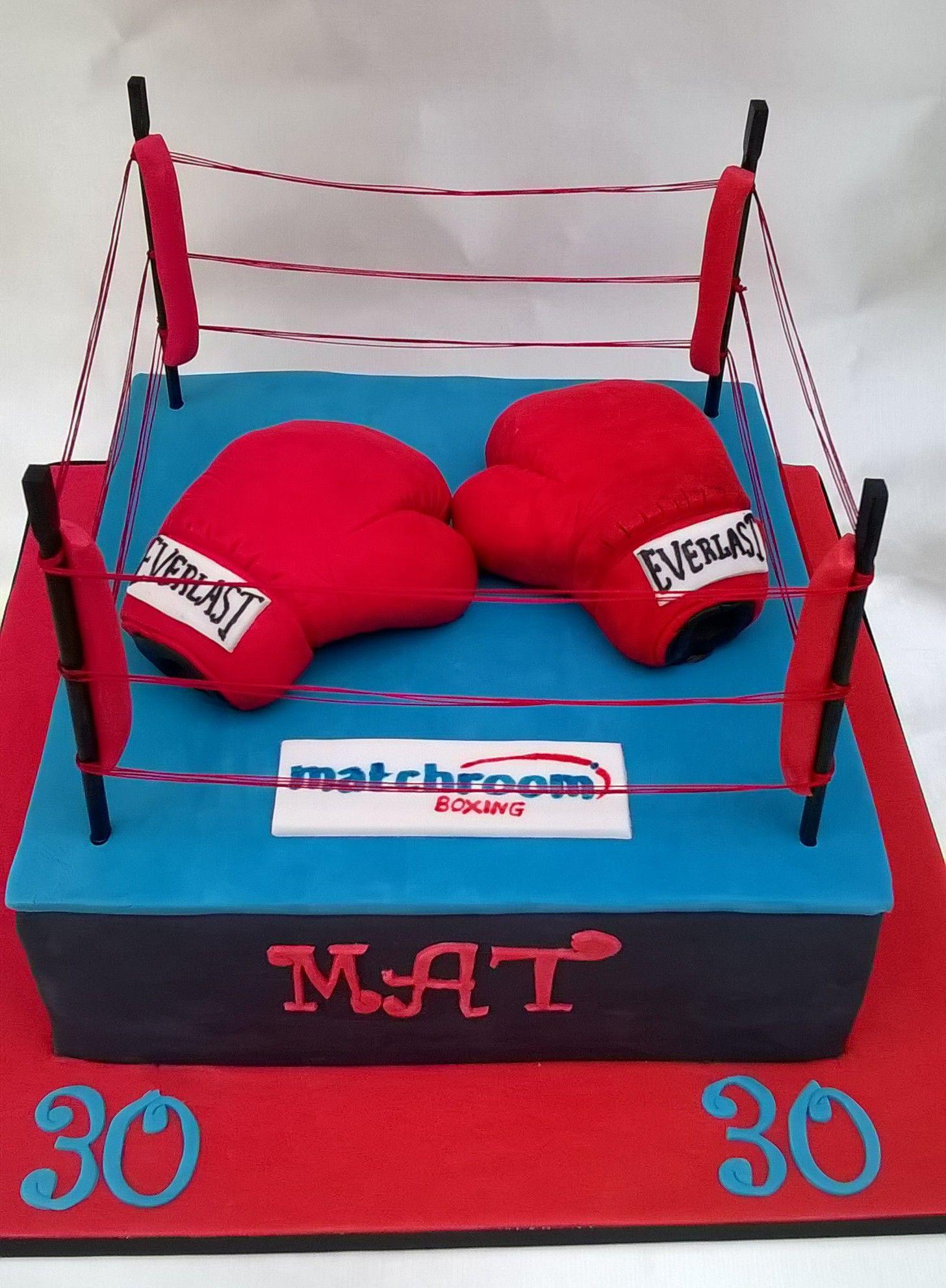Boxing ring cake | BDay Gino | Pinterest | Ring cake, Cake ...