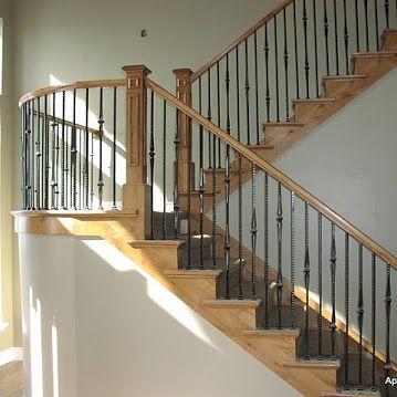 Best Alder Curved Railing Utah Stair Railings Stair Railing 400 x 300