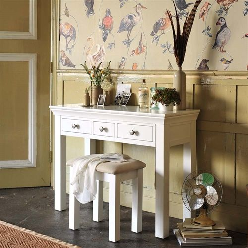 Best Chantilly White 3 Drawer Dressing Table P467 With Free 400 x 300