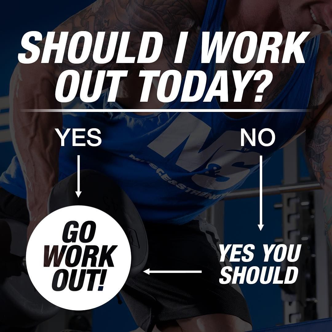 But ARE you working out today? That's the real question