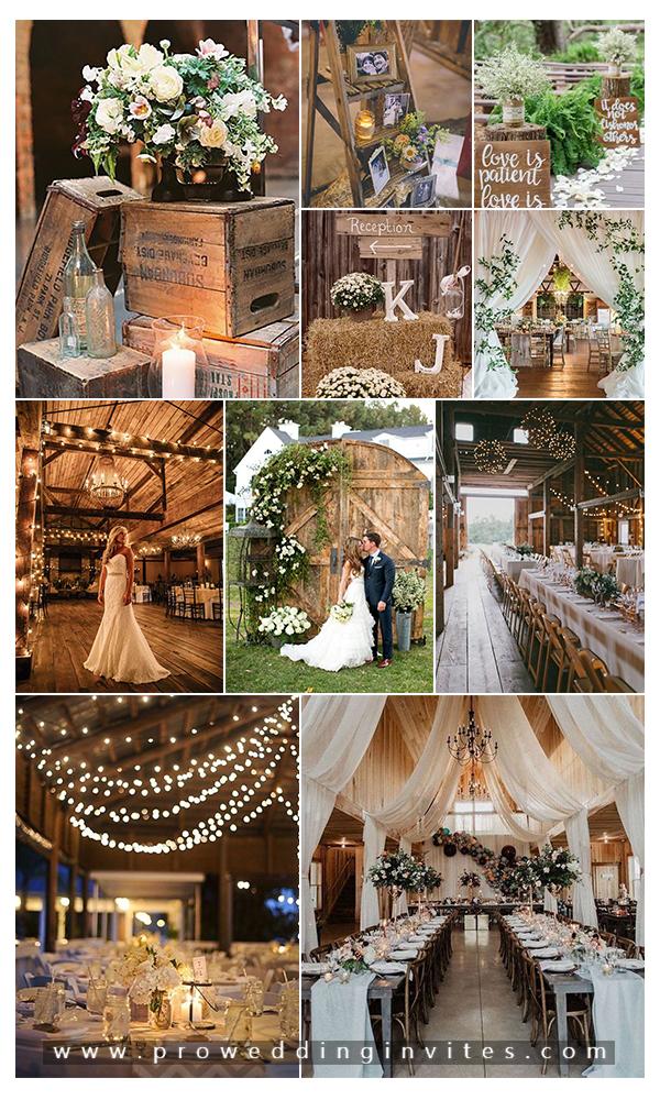 25 Treacly and Romantic Rustic Barn Wedding Decor