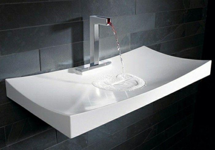 Moderne Waschbecken moderne waschbecken grau steinwand bad
