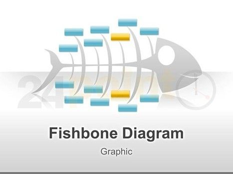 Cause And Effect Fishbone Diagram - Powerpoint Graphic Template
