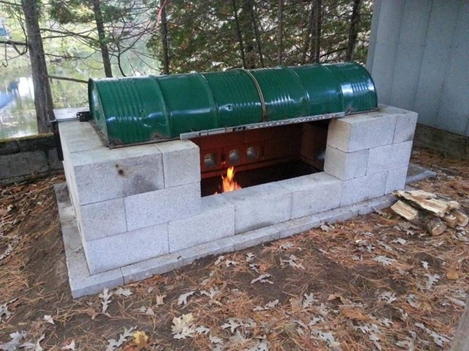 HOME DECOR: How To Make A Large Rotisserie Fire pit | Diy ...